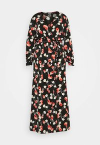 Missguided Plus - PLUNGE DRESS FLORAL - Day dress - red - 5