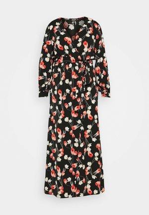 PLUNGE DRESS FLORAL - Vestido informal - red