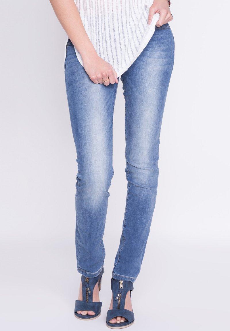 BONOBO Jeans - DAMEN - Slim fit jeans - stone blue denim