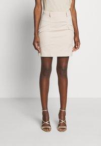 Patrizia Pepe - GONNA SKIRT - Mini skirt - sand - 0