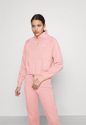 FANNY HALF ZIP - Sweater - pale mauve
