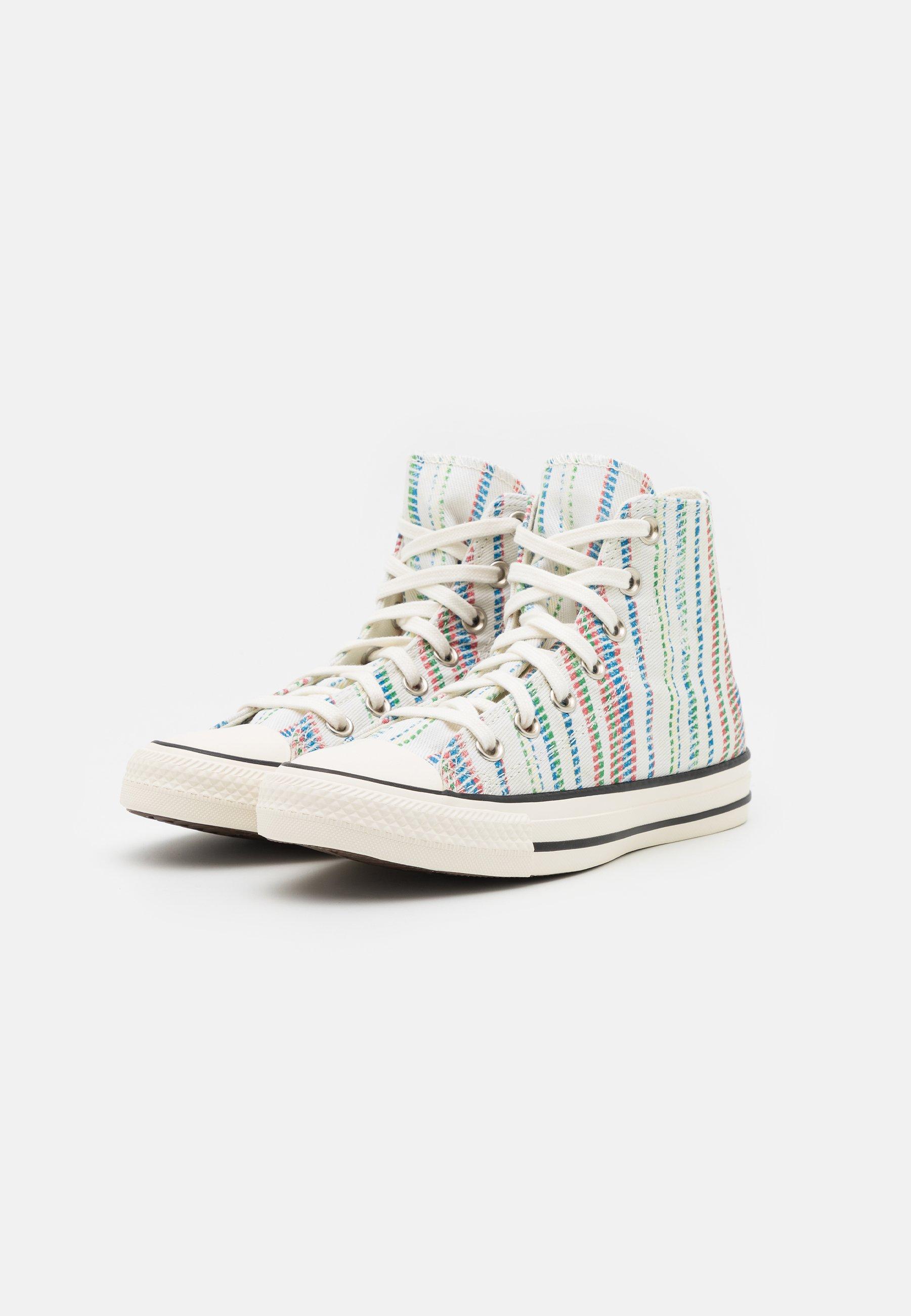 CHUCK TAYLOR BEACH STRIPES UNISEX - Sneakers alte - egret/egyptian blue