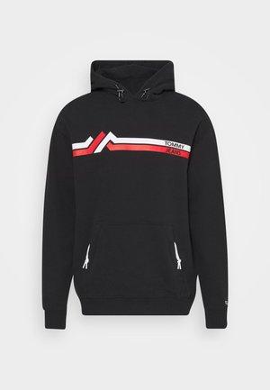 STRIPE MOUNTAIN - Bluza z kapturem - black