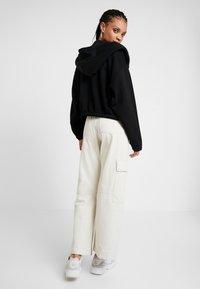Weekday - MIMI ZIP HODDIE - Zip-up hoodie - black - 2