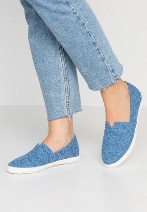 Slip-ons - bleu