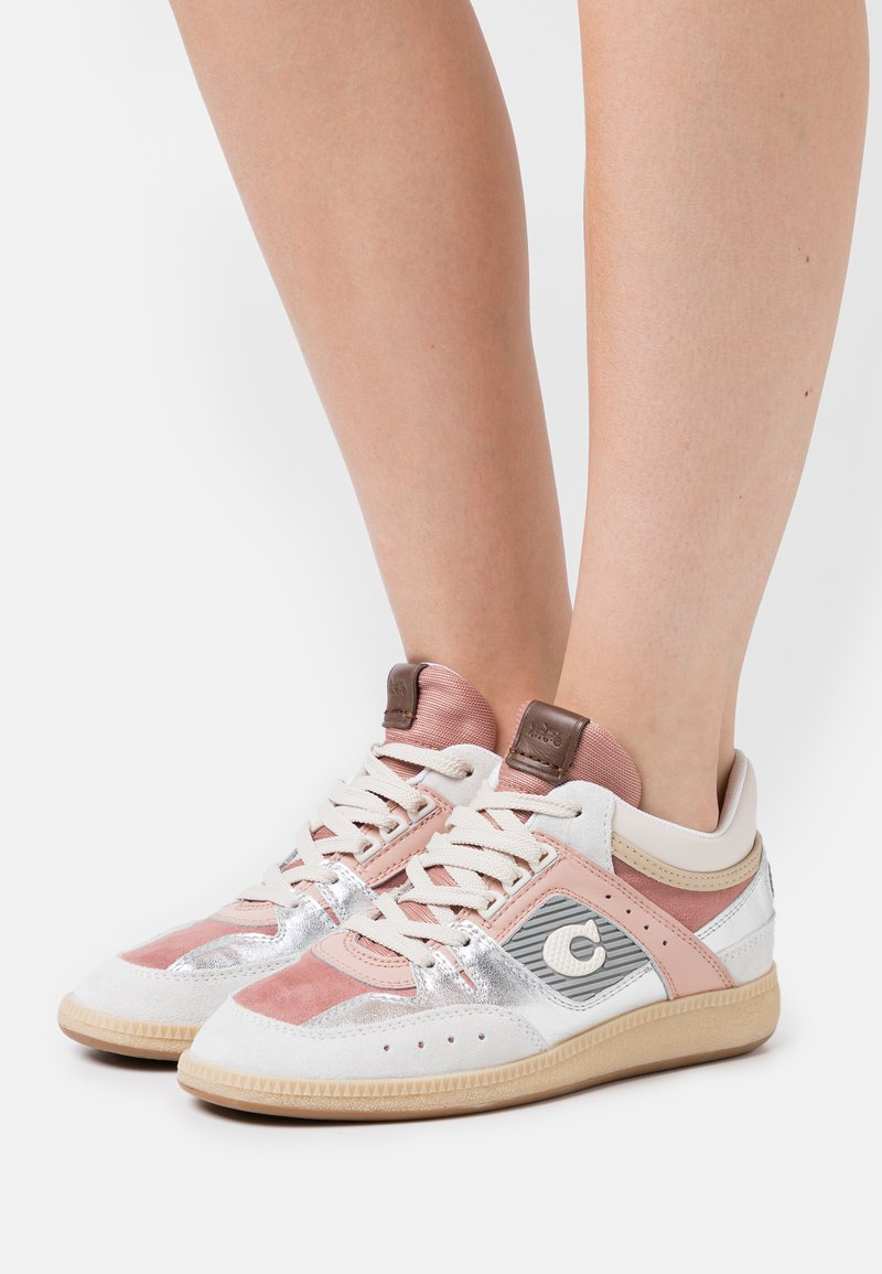 Coach - CITYSOLE METALLIC MID TOP - High-top trainers - silver/pale blush