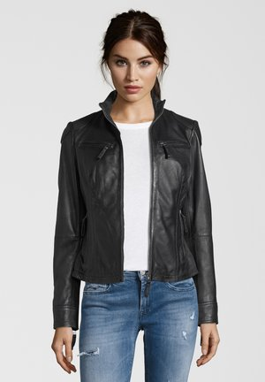 EVIANA - Leather jacket - black