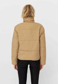 Stradivarius - Winter jacket - light brown - 2