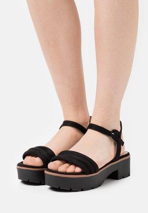 CURIE - Platform sandals - black
