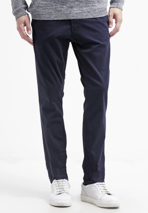 WITH BELT - Chinos - blue grey