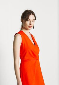 Closet - PLEATED WRAP A-LINE DRESS - Jersey dress - orange - 4