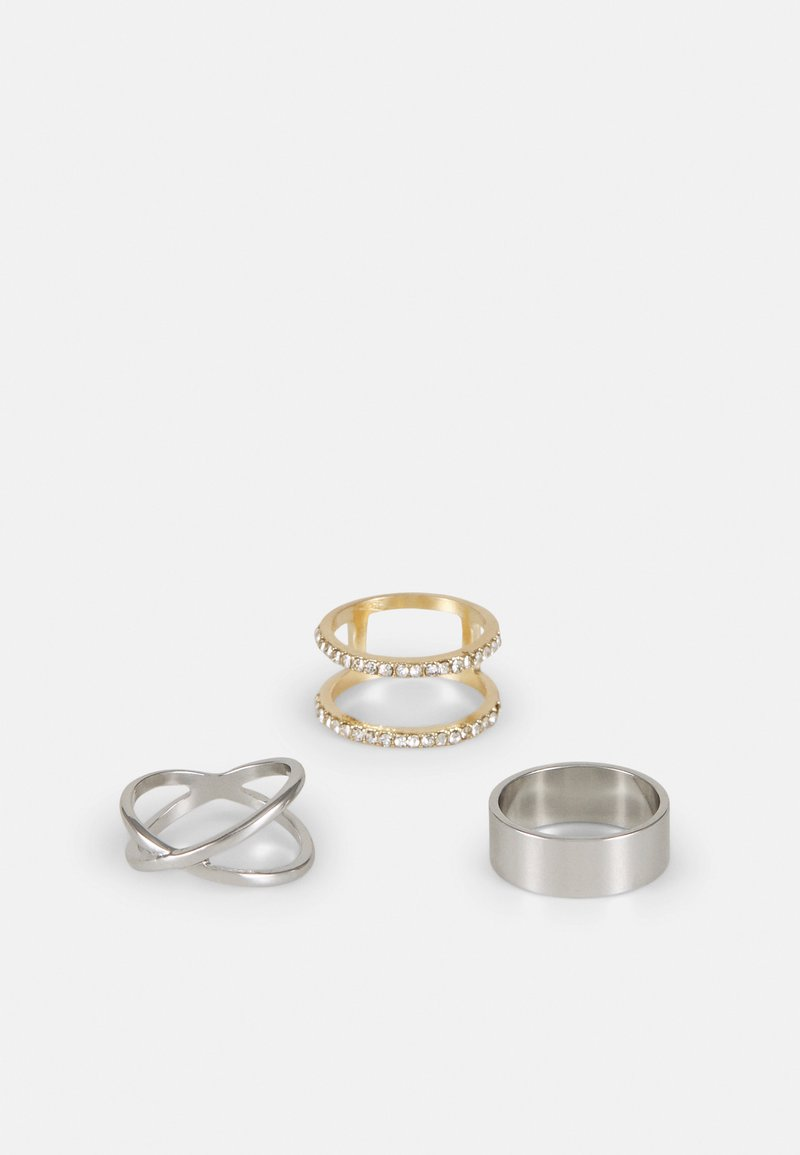 LIARS & LOVERS - CRISS CROSS 3 PACK - Ring - silver-coloured