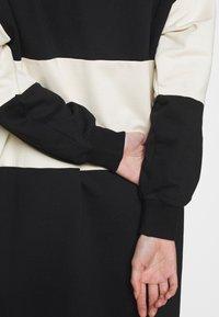 ONLY - ONLDREAMER COLOR BLOCK HOOD DRESS - Day dress - black/birch - 5