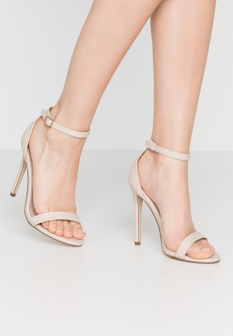 Missguided - BASIC BARELY THERE - Sandały na obcasie - nude