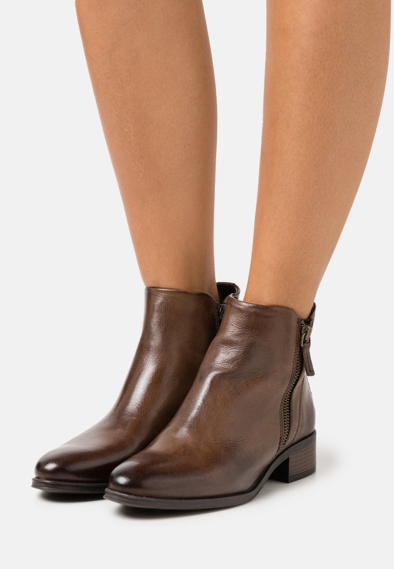 Anna Field - LEATHER - Ankle boots - dark brown