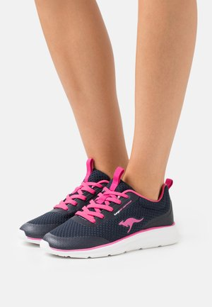 KJ-DYNA - Sneakersy niskie - dark navy/fandango pink