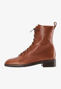 usha - Lace-up ankle boots - cognac - 1