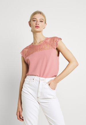 VILOVIE CAPSLEEVE - Print T-shirt - old rose