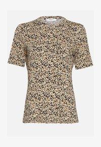Moss Copenhagen - MABEA SS - Print T-shirt - black flower - 1