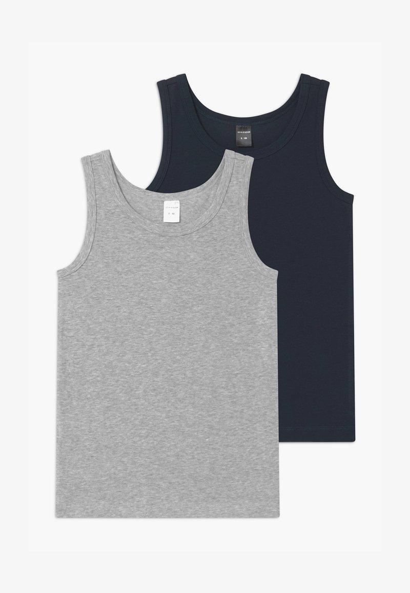 Schiesser - TEENS 2 PACK  - Undershirt - dark blue/grey