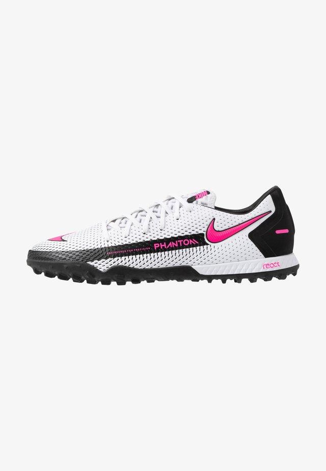 PHANTOM ACADEMY TF - Voetbalschoenen voor kunstgras - white/pink blast/black