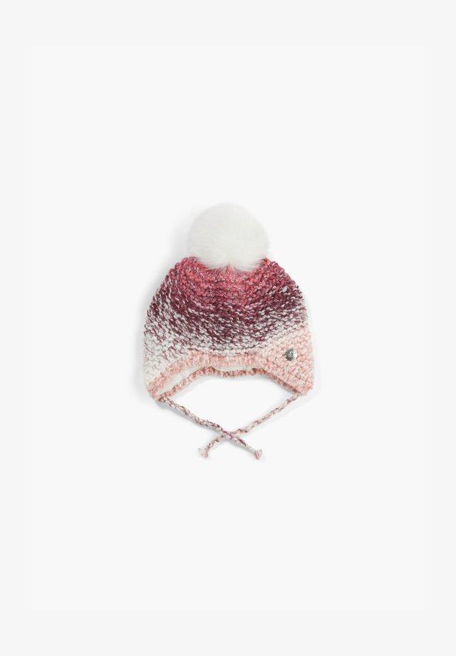 MIT KUNSTFELL-BOMMEL - Beanie - dark pink aop