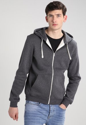 Zip-up hoodie - dark grey melange