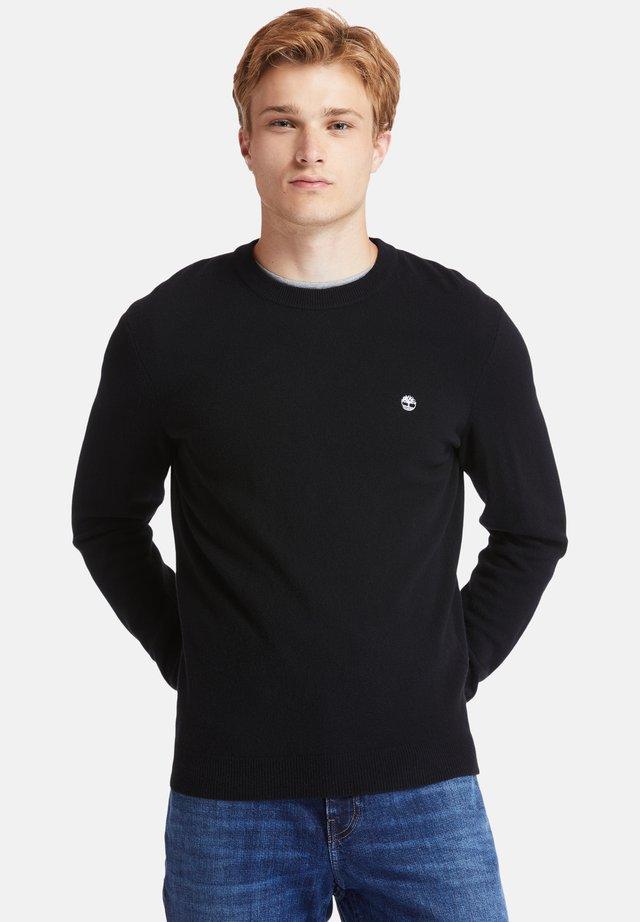 COHAS BROOK MERINO CREW - Bluza - black