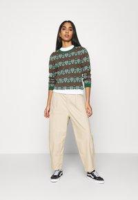 Monki - SOMIA - Jumper - green jaquard knit - 1