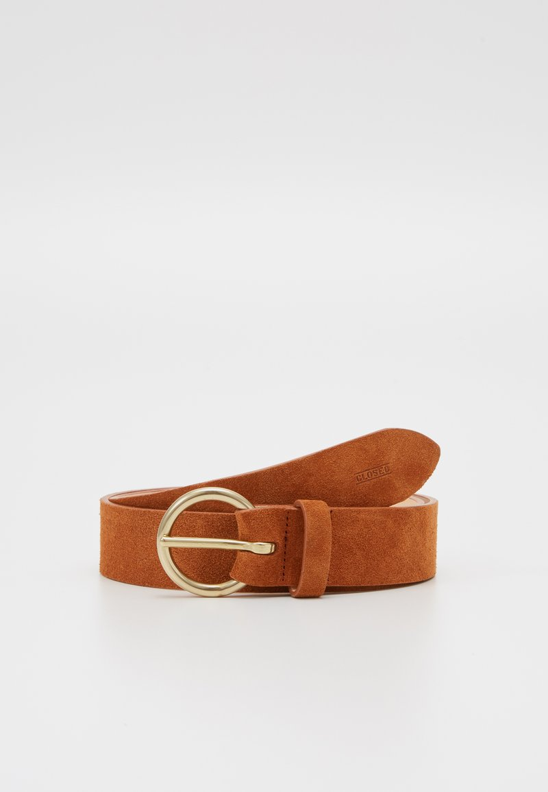CLOSED - BELT - Pásek - dark pecan