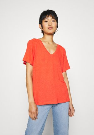 TEE - Jednoduché triko - new coral