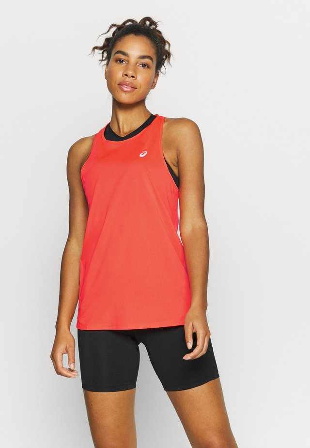 RACE SLEEVELESS - Treningsskjorter - flash coral