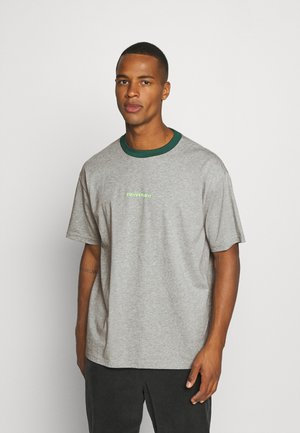 WORDMARK OVERSIZED TEE - T-shirt con stampa - mottled grey