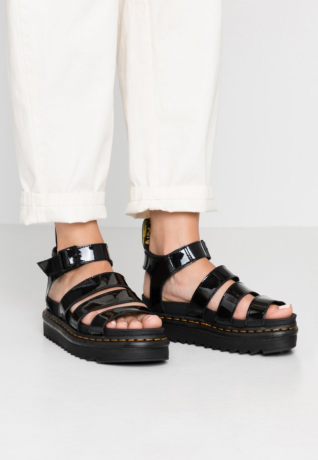 BLAIRE - Platform sandals - black