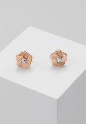 Earrings - rosegold-coloured/crystal
