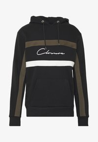 CLOSURE London - BAND STRIPE HOODY - Hoodie - black - 4