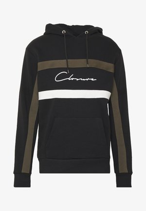 BAND STRIPE HOODY - Luvtröja - black