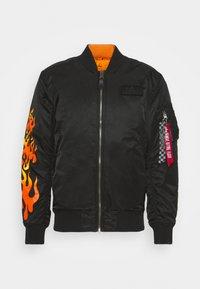 Alpha Industries - HOT WHEELS REVERSIBLE - Bomber Jacket - black - 0