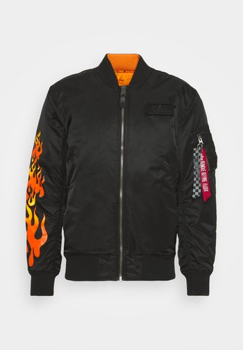 HOT WHEELS REVERSIBLE - Bomber Jacket - black