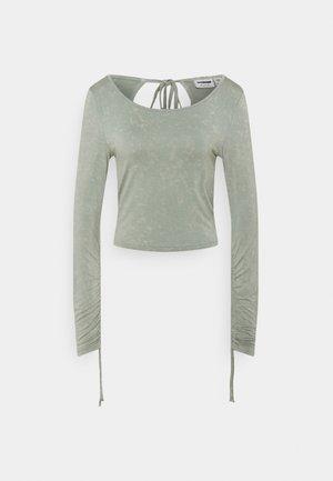 NMNAOMI CROP - Long sleeved top - slate gray