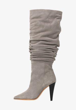 BAILEY - High heeled boots - pearl grey