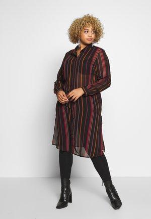 LONGLINE SPLIT SIDE - Button-down blouse - multicolor