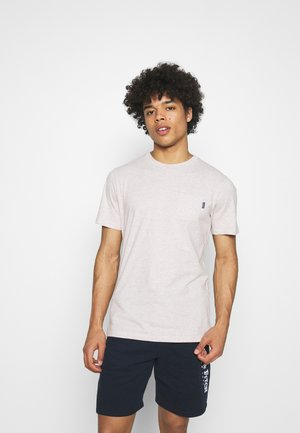 CHEST POCKET - Basic T-shirt - grey melange