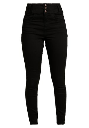 SUPER - Jeansy Skinny Fit - black