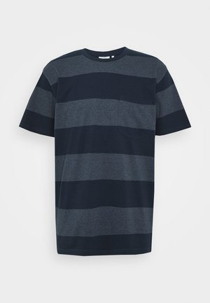 SANDRO - Print T-shirt - dark saphire
