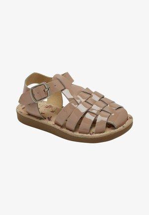 Sandaalit nilkkaremmillä - brown