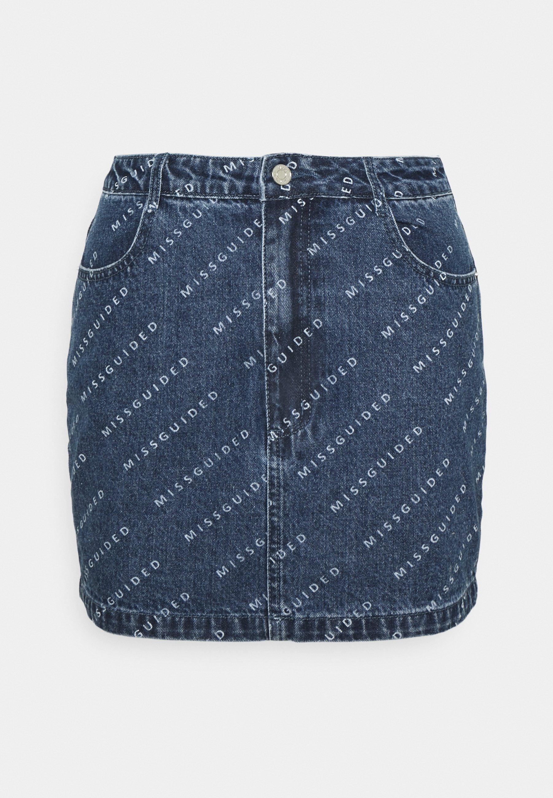Femme PRINT DENIM SKIRT  - Jupe en jean