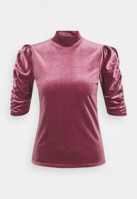 Monki - NARIN TOP - Long sleeved top - wine red - 4