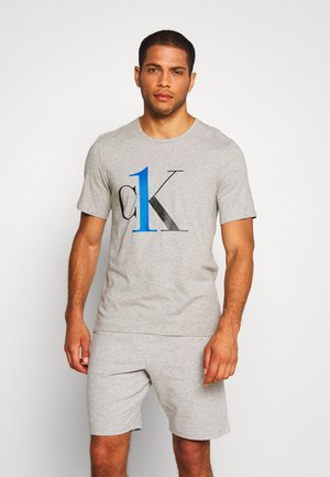 ONE GRAPHIC TEE CREW NECK - Pyjama top - grey