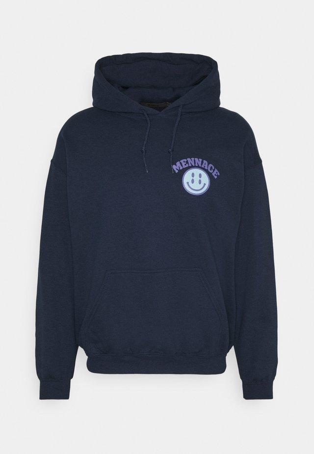 UNISEX TWISTED HOODIE - Hoodie - blue
